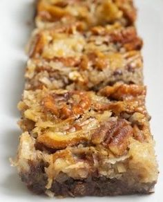 German Chocolate Pecan Pie Bars. Come Share your food blogs or recipes with us on Facebook #TheTexasFoodNetwork All Foodies are welcome!