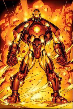 Iron Man Armor Model 19 by Keron Grant Dark Comics, Marvel Comics Art, Marvel Heroes, Comic Book Characters, Marvel Characters, Comic Books Art, Comic Art, Book Art, Superior Iron Man