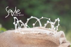 beads pearl wire crown created by DYI tutorial by Chrissy Martin