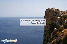 Happy Habits Quote on InspiredWork by Cierra Rantoul