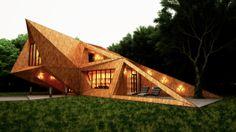 House In The Forest by Leqso Tsiskarishvili