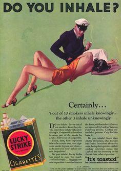 Lucky Strike Cigarettes Ad.