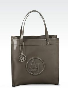 Shopper Donna Armani Jeans - TOTE BAG IN ECO VERNICE CON CHARM Armani Jeans Official Online Store