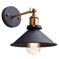 Oak Leaf Industrial 180 Degree Adjustable Metal Wall Sconce Lighting Shade Vintage Light Lamp With Installing Accessories Image 1 Of 7