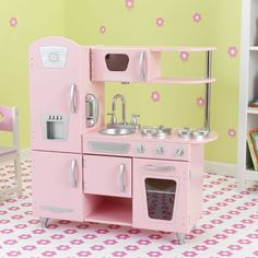 Cocinita estilo vintage de juguete de la marca Kidkraft para juegos de niños y niñas. Perfecta para decorar habitaciones de niños. Gran calidad y detalles.