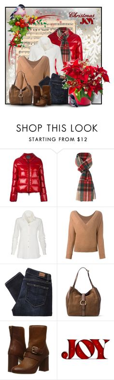 """""""Christmas Joy (12.18.16)"""" by stylesbymimi ❤ liked on Polyvore featuring Duvetica, Polo Ralph Lauren, Erika Cavallini Semi-Couture, Paige Denim, MICHAEL Michael Kors and Boutique Moschino"""