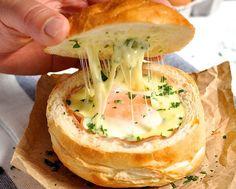 Ham Egg & Cheese Bread Bowls