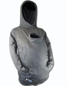 Hoodie that fits over baby carriers...also handy in case you've been infected by an alien facehugger...