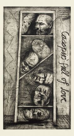To own a William Kentridge.Casspirs Full of Love – an etching on paper by William Kentridge Drypoint Etching, Ephemeral Art, Image Collage, Sketch Paper, Artist Journal, South African Artists, Drawing Skills, Contemporary Artists, Modern Art