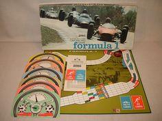 Formula 1 racing car board game,