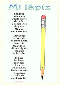 Never thought a poem about pencils would be cool...