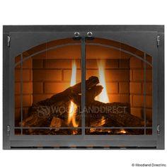Carson Fireplace Glass Door - Vintage Iron | WoodlandDirect.com ...