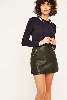 Urban Outfitters Ribbed Collar Jumper - Urban Outfitters
