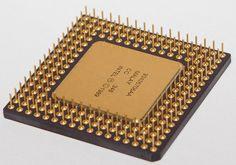 Underside of an Intel 486 Processor.