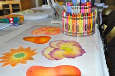 May Your Bobbin Always Be Full: Crayon Melt 'n Blend.....Play Day