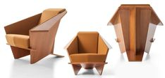 Cassina, the high-end Italian furniture house, opens up the vault for a posthumous limited edition of Wright's own home armchair. Italian Furniture, Home Furniture, Frank Lloyd Wright Buildings, Dining Room Chair Cushions, Fire Pit Table And Chairs, Farmhouse Dining Chairs, Origami Design, Own Home, Interior Design