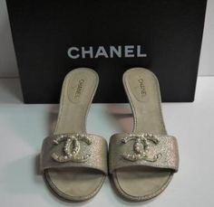 bc789629640b Chanel Sandal Heels with Pearl and Jewels