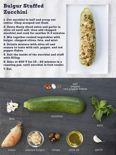 Stuffed zucchini - easy recipe ingredients can be added/deleted to taste!
