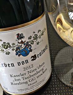 """El Alma del Vino.: Weingut Erben Von Beulwitz Kaseler Nies'chen """"Im Taubenberg"""" Riesling GG Trocken 2012"""