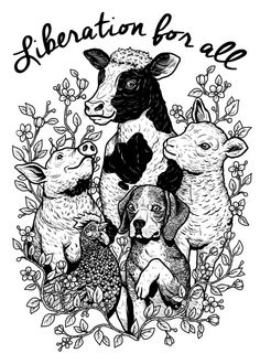 dog Illustration art My art artwork shirt vegan pig cow beagle lamb hen animalrights CAF veganveins The Animals, Vegan Animals, Animals Planet, Strange Animals, Vegan Tattoo, Vegan Quotes, Vegan Blogs, Vegan Recipes, Dog Illustration