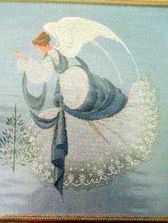 New Lavender & Lace Ice Angel Cross Stitch Pattern Chart ONLY Marilyn Imblum #LavenderandLace #PatternONLY