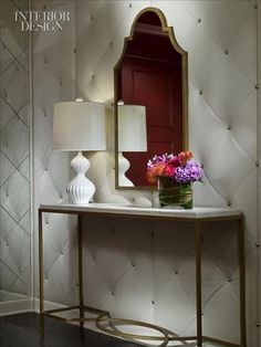 Diamond quilted wall