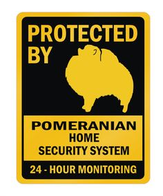Protected By Pomeranian Home Dogs Parking Sign by Idakoos on Etsy, $13.00