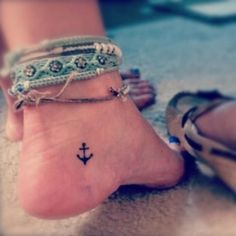 Awesome Anchor Tattoo On Foot