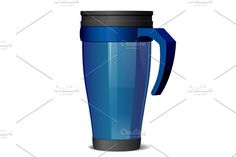 Metal travel thermo cup by Sunny on @creativemarket