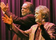Jon Anderson & Rick Wakeman of Yes--Two fine wines...how about I mix 'em both and see just how much MORE drunk on music I can get????!!!!