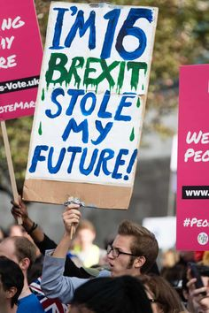 Anti-Brexit People's Vote March for the Future in London, UK - 20 Oct 2018Mandatory Credit: Photo by Richard Isaac/REX/Shutterstock (9938833m) Around 100,000 demonstrators march through London during a People's Vote anti-brexit demonstration Anti-Brexit People's Vote March for the Future in London, UK - 20 Oct 2018