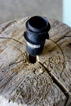 Such a great idea - DIY tree stump lamp