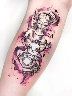 Dan Átila > Angewomon x Gatomon/Tailmon (Digimon) #tattoo #ink #art