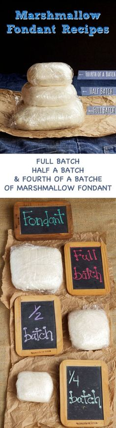 Looking for a Marshmallow Fondant Recipe - Here is Three Different Sized Batches of an Easy Fondant Recipe-Full Batch, 1:2 Batch and 1:4 Batch via http://www.thebearfootbaker.com (Chocolate Frosting Martha Stewart)