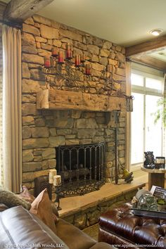 Reclaimed Hand Hewn Mantle Piece