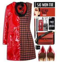 """""""Rainy Day"""" by grozdana-v ❤ liked on Polyvore featuring Salvatore Ferragamo, Chanel, Marni, Kevyn Aucoin, NARS Cosmetics, Casetify and Marc Jacobs"""
