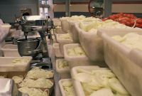 Legendary Volume of Sliced Onions to be Fried at The Varsity in Atlanta... Two miles of hot dogs, a ton of onions, 2500 pounds of potatoes, 5000 fried pies and 300 gallons of chili are made from scratch daily!