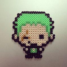 Zoro One Piece perler beads by yoki0508