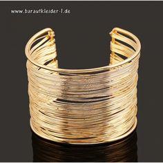 Braid Big Gold Armreifen für die Braut