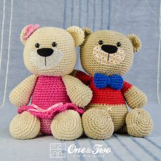 Teddy Sweet Hugs #crochet #pattern by One and Two Company