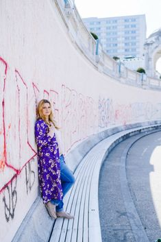 Outfit unter Kirschblüten: Rosa meets Ultraviolet und Karl Lagerfeld Tasche Karl Lagerfeld Taschen, Location, Pastel Pink, Ultra Violet, Pink Flowers, Lily Pulitzer, Outfits, Dresses, Fashion
