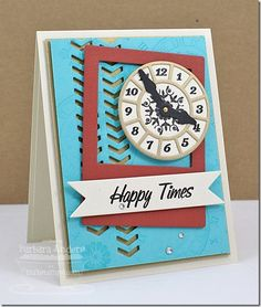 Timeless; More Essential Sentiments; Time Pieces Die-namics; Peek-a-Boo Chevrons Die-namics; Insert It - InstaFrame Die-namics; First Place Award Ribbon Die-namics