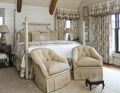 Francie Hargrove bedroom with plank walls...so calming