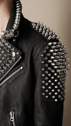 Multi-Stud Biker Jacket | Burberry
