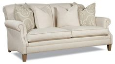 7428 Casual Rolled Arm Sofa with Large Accent Pillows by Huntington House - Gardiners Furniture - Sofa Baltimore, Towson, Pasadena, Bel Air, Westminster, Catonsville, Maryland