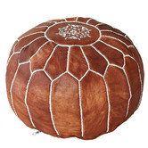 Premium Luxe Moroccan Leather Ottoman Pouffe Pouf Footstool in Tan brown Leather Pouf Ottoman, Moroccan Leather Pouf, Ottoman Footstool, Moroccan Pouf, Ottoman Cover, Ottomans, Pouf Cuir, Vintage Chairs, Marrakech
