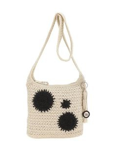 Classic and easy to carry, our crochet crossbody is soft and durable and features a zip top closure to ensure your valuables stay put.