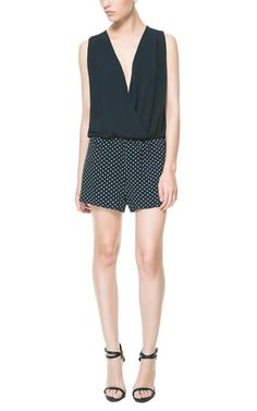 COMBINATION CROSSOVER PLAYSUIT from Zara