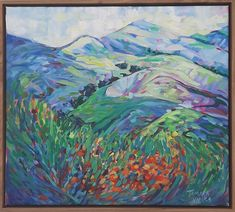 Buy The hills I love, Oil painting by Tamara Vieira on Artfinder. Discover thousands of other original paintings, prints, sculptures and photography from independent artists. Summer Hill, Inner World, Oil Painting On Canvas, Impressionist, Lovers Art, Landscape Paintings, Buy Art, Original Paintings, Sculptures