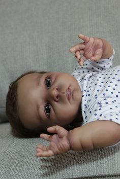 AA Ethnic Biracial Reborn baby Doll Amy Prototype by Olga Auer in Dolls & Bears, Dolls, Reborn
